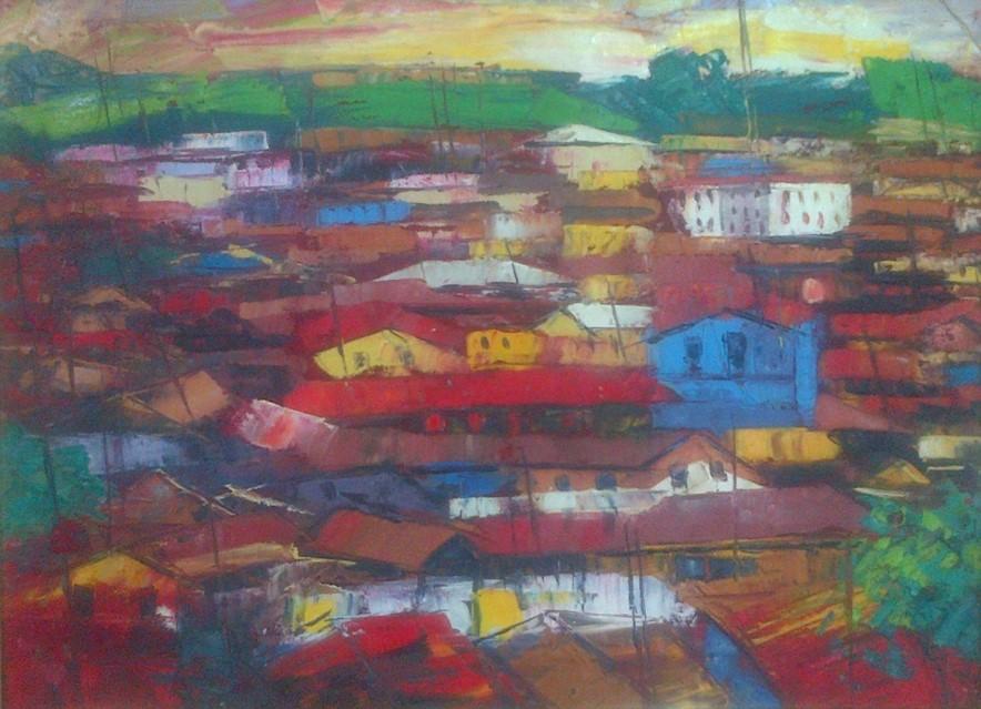 Acrylic on canvas - 19 x 24 in
