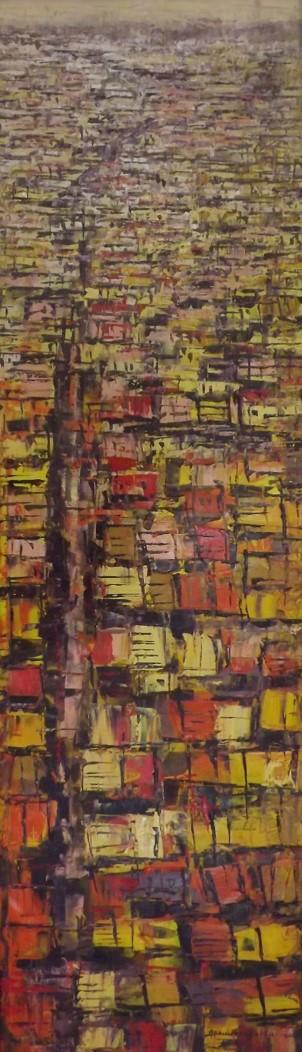Acrylic on canvas - 24 x 60 in