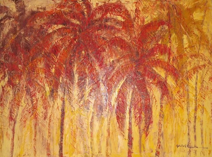 Acrylic on canvas - 31 x 48 in