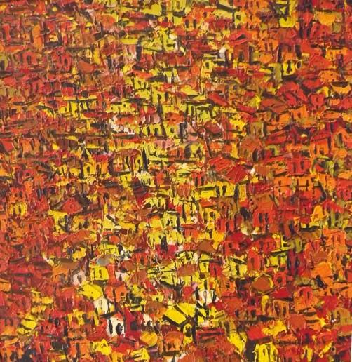 Acrylic on canvas - 48 x 48 in