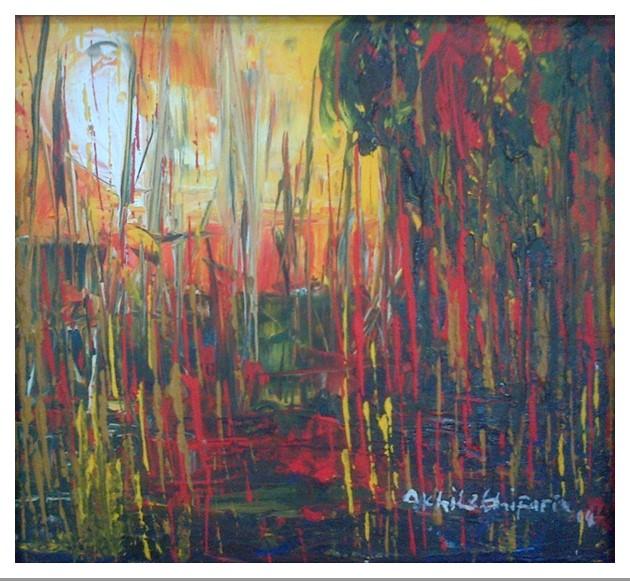Acrylic on canvas - 16 x 14 in