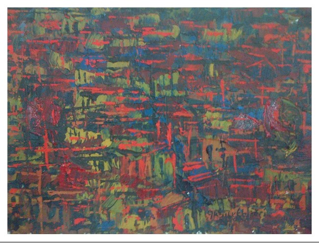 Acrylic on canvas - 16 x 22 in
