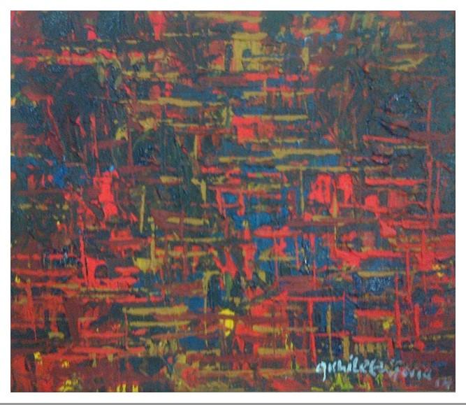 Acrylic on canvas - 17 x 14 in