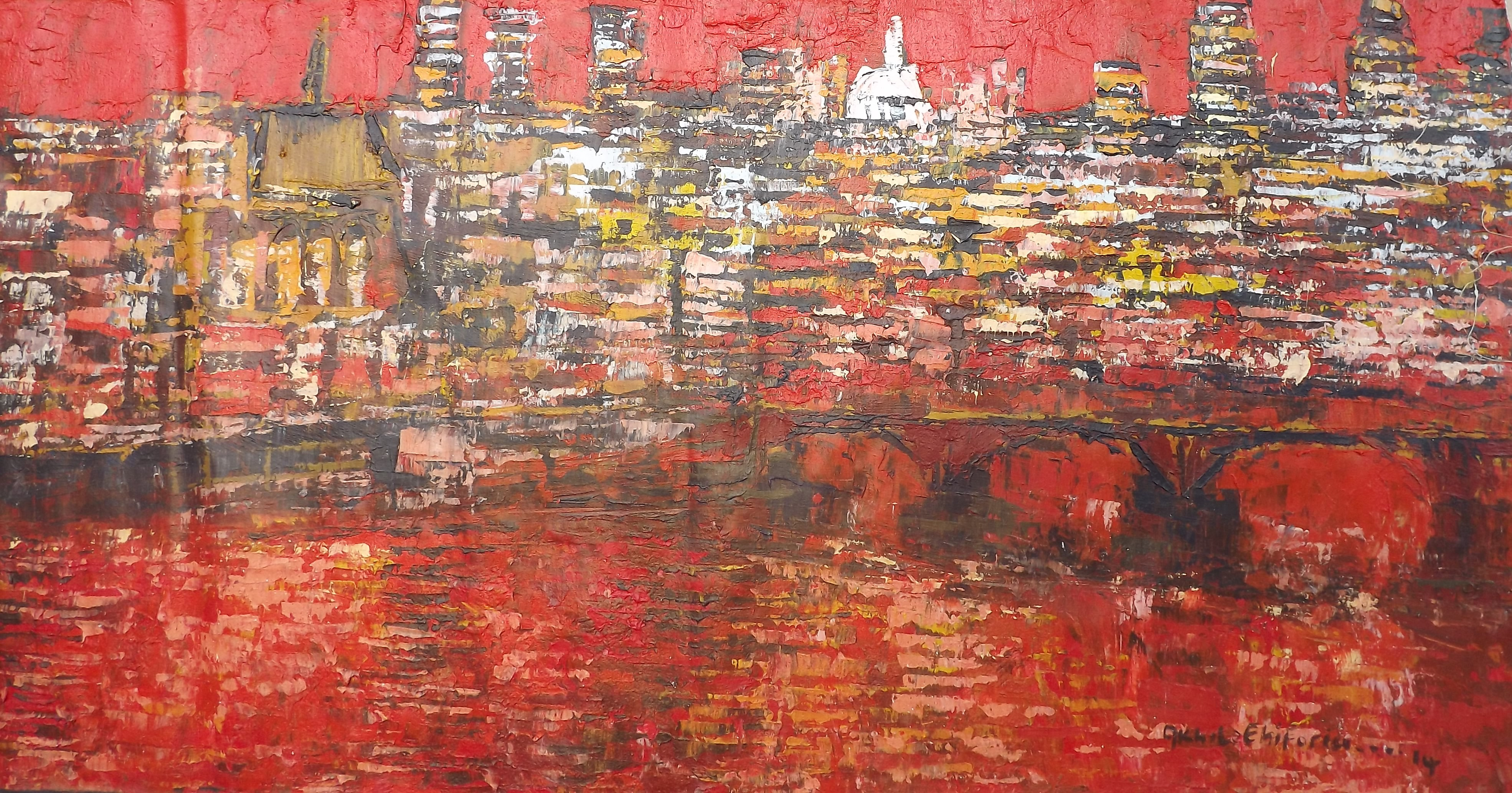 Acrylic on canvas - 49 x 24 in