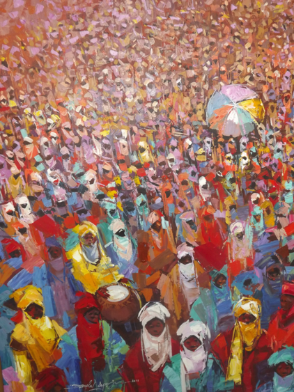 Colourful Festival (2011) - Acrylic on canvas - 35 x 47 in