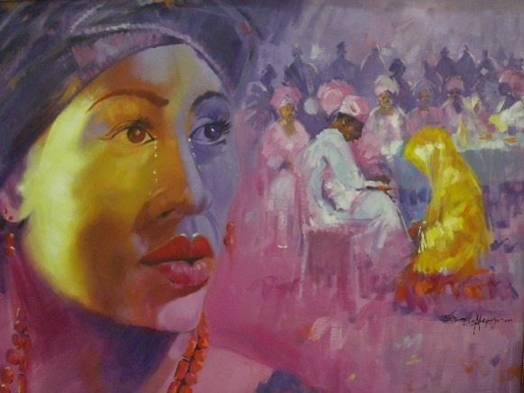 Ekun Iyawo (2011) - Acrylic on canvas - 48 x 41 in