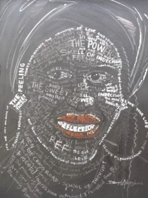 Typographic Portrait (2010) - Acrylic on canvas - 45 x 39 in