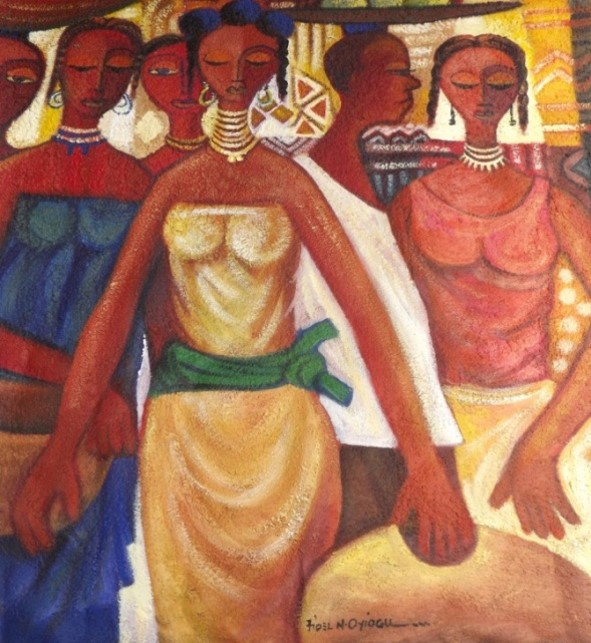 After the Market (2011) - Acrylic on canvas - 49 x 40 in
