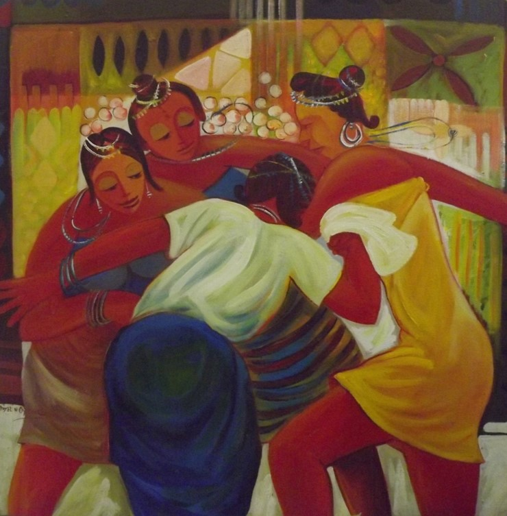 Dance of the Matron (2011) - Acrylic on canvas - 47 x47 in