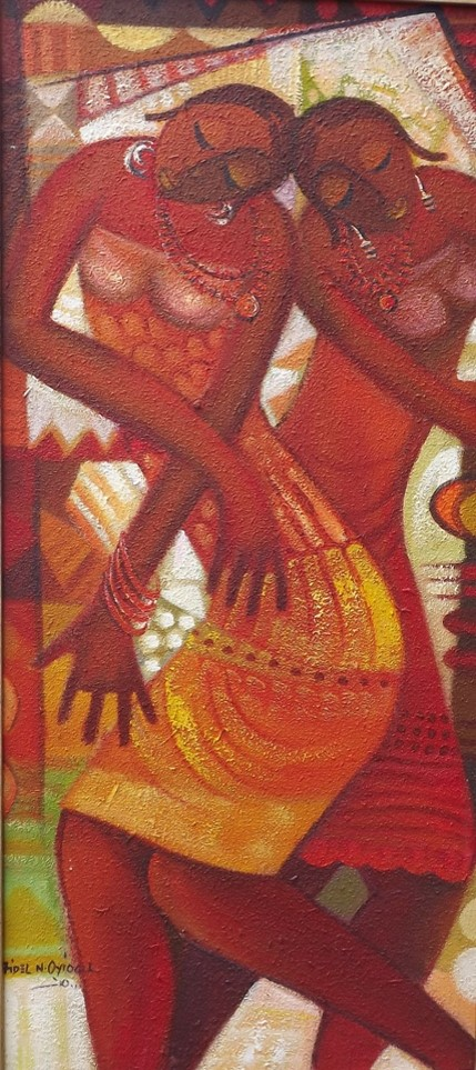 Maiden Dance (2010) - Acrylic on canvas - 35 x 29 in