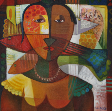 Nkwa Umu-Agboho (2010) - Acrylic on canvas - 47 x47 in