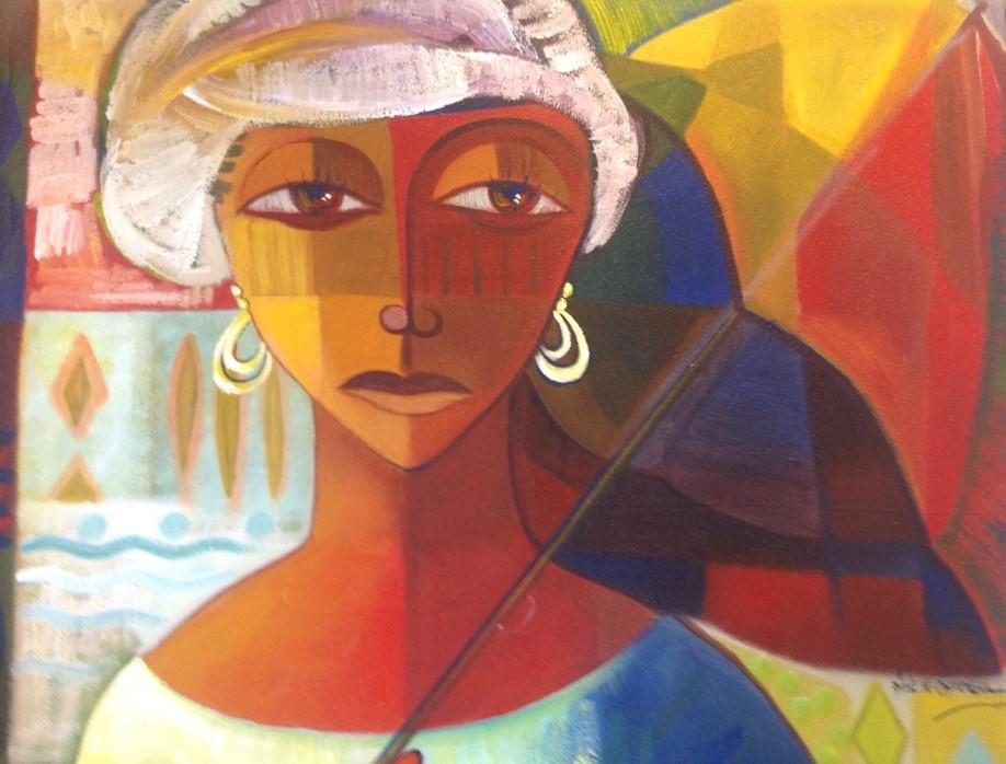 Acrylic on canvas - 47 x 47 in