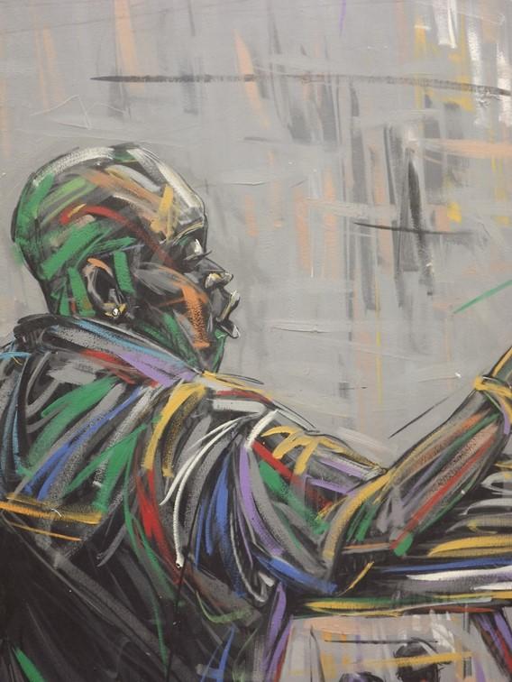 Days of Oshodi (2009) - Acrylic on canvas - 50 x 35 in