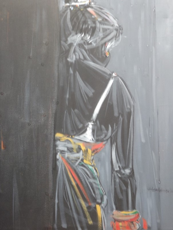 Occasion (2011) - Acrylic on canvas - 47 x 33 in