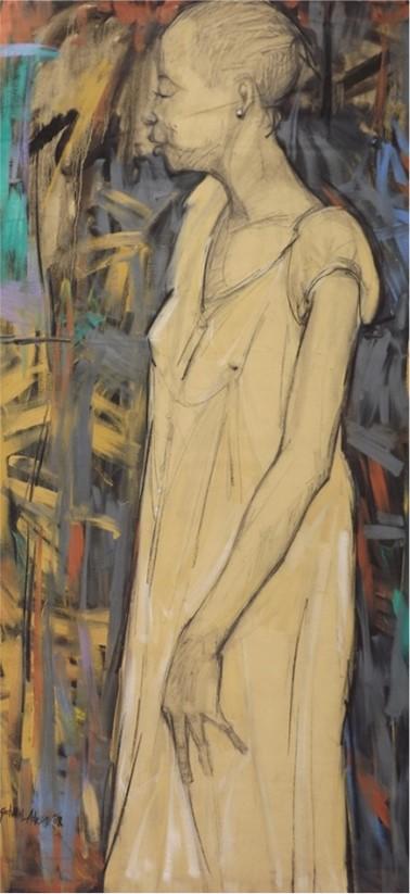 Omobolanle (2007) - Acrylic on canvas - 51 x 25 in