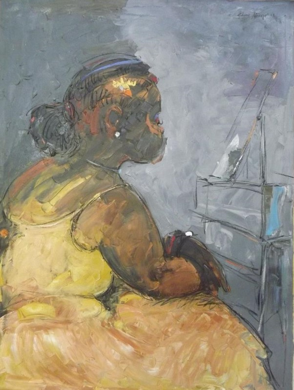 Some Mother's Do Have Them(2010) - Acrylic on canvas - 35 x 47 in