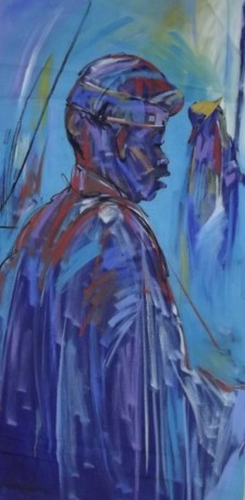 Staff of Honour (2014) - Acrylic on canvas - 52 x 25 in