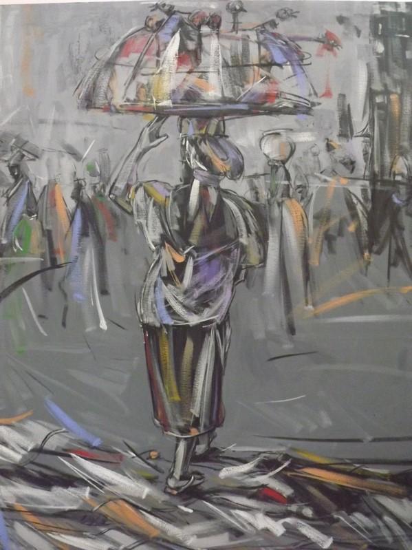 Xmas Sales (2011) - Acrylic on canvas - 37 x 47 in