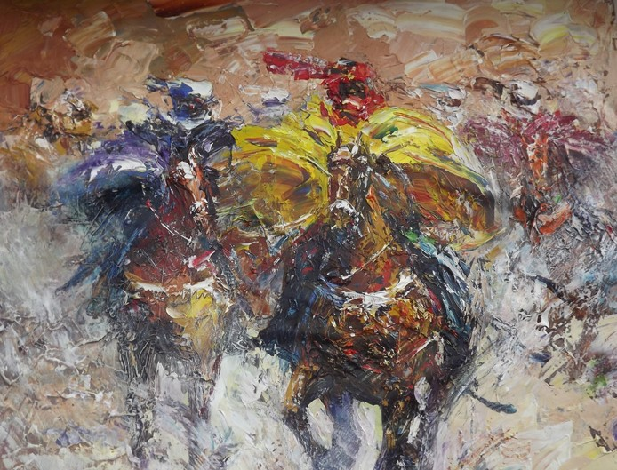 Race (2013) - Oil on canvas - 48 x 36 in