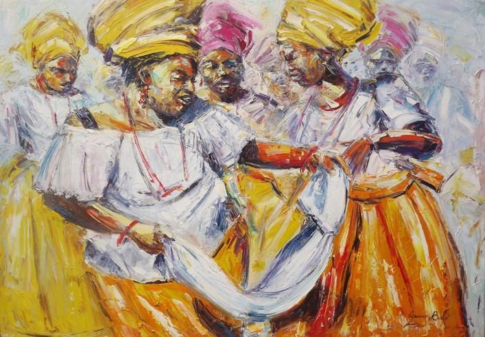 Rhythm Unplugged  (2011) - Oil on canvas - 41 x 52 in