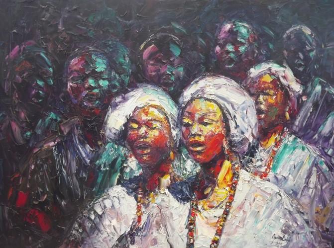 The Choir (2012) - Oil on canvas - 30 x 36 in