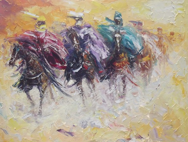 The Race (2012) - Oil on canvas - 36 x 48 in