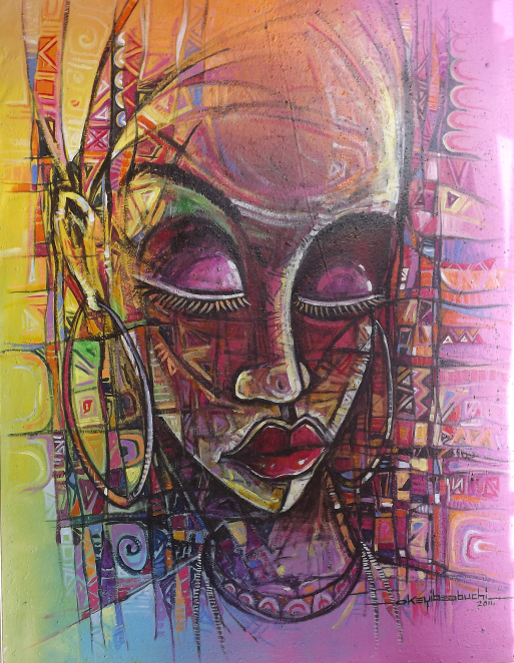 Mixed media - 60 x 24 in