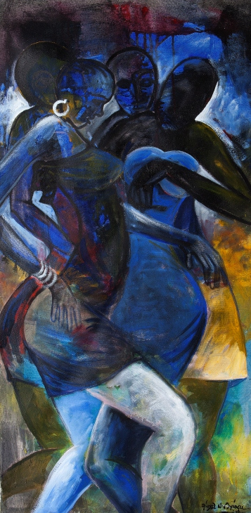 Dance Rehearsal III (2015). Acrylic on Canvas. 122cm x 62cm